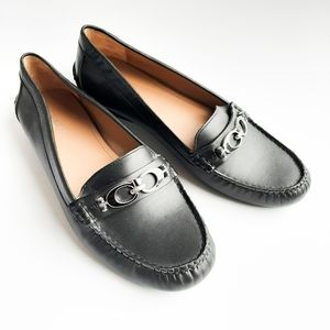 Coach Fortunata NWOT leather driving loafers 9.5